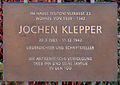 Gedenktafel Teutonenstr 23 (Nikol) Jochen Klepper.jpg