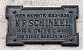 Gedenktafel Unter den Linden 67 (Mitte) Karl Friedrich Schinkel.jpg