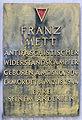 Gedenktafel Weinmeisterstr 16 (Mitte) Franz Mett.JPG