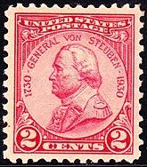 General Von Steuben 1930 Issue-2c