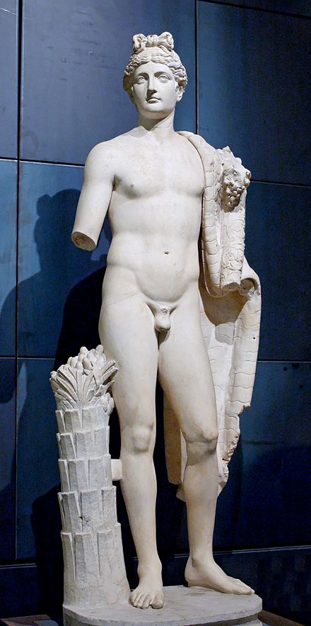 The genius of Domitian with the aegis and a cornucopia, marble statue, Capitoline Museums, Rome Genius Domitian Musei Capitolini MC1130.jpg