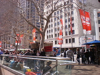 George Street, Sydney - Protests at Town Hall Square, George Street in 2011