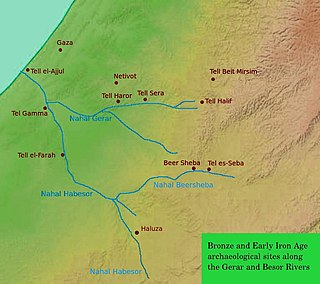 Map of the Gerah valley