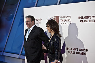 Gerry Ryan - Ryan pictured with his partner Melanie Verwoerd at the opening of the Grand Canal Theatre in March 2010