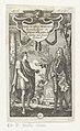 Gesprek tussen keizer Theodosius I en Johan Willem, hertog van Saksen-Eisenach Theodosius Magnus Roomsch Keizer en Iohan Wilhelm Hartog van Saxen Eisenach (titel op object), RP-P-2016-1200.jpg