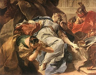 Sophonisba - The Death of Sophonisba, by Giambattista Pittoni (1730s)