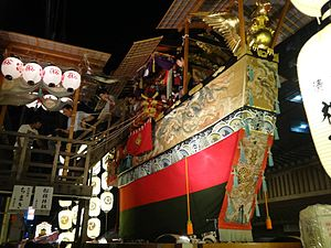 Gion Matsuri - Traditional wooden floats in Gion Matsuri 2014.