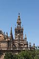 Giralda cathedral from Alcazar Seville Spain.jpg