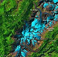 Glaciers around Mont Blanc, Western Alps, August 25, 2019 (labelled).jpg
