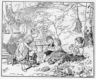 House (game) - An 1883 German illustration of children playing house