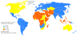 A global map of male circumcision prevalence at the country level.