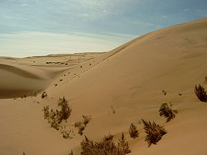 Gobi Desert - Sand dunes in Inner Mongolia Autonomous Region, China