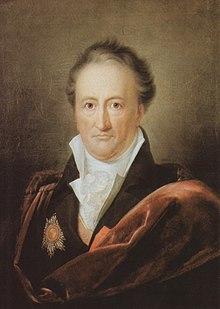 Johann Wolfgang von Goethe, Ölgemälde von Gerhard von Kügelgen, 1810. Das repräsentative Gemälde zeigt den Dichter mit dem Schulterband der französischen Ehrenlegion und dem Stern des russischen Ordens der Heiligen Anna 1. Klasse. (Quelle: Wikimedia)