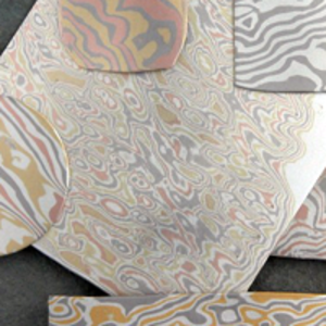 Mokume-gane - Example of Mokume-gane patterns in gold and silver alloys