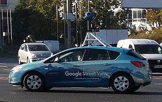 Google Street View - Google car in Germany