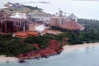 Nhulunbuy - Alumina plant at Nhulunbuy, June 2000