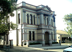 Granville, New South Wales - Granville Town Hall and public library (right)