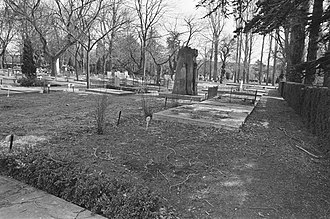 Christiaan Lindemans - Lindemans' resting place, Rotterdam, picture dated, March 25, 1986.