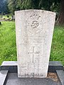 Gravestone of Private Edwin Edmunds of the 30th Battalion Suffolk Regiment at Ty Rhiw cemetery, Taff's Well, July 2020.jpg
