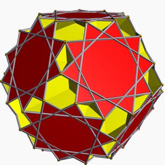 Great ditrigonal dodecicosidodecahedron - Image: Great dodecicosahedron