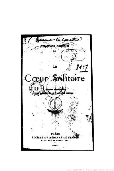 File:Guérin - Le Cœur solitaire, 1904.djvu