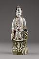 Guanyin barmhärtighetens gudinna gjord av porslin i Kina på 1800-talet - Hallwylska museet - 95595.tif