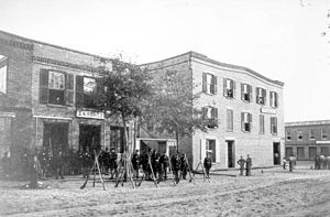 Jacksonville, Florida - Union Army guard house on Bay Street in December 1864.