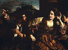 Semiramide riceve la notizia della rivolta di Babilonia, dipinto del Guercino, Boston, Museum of Fine Arts