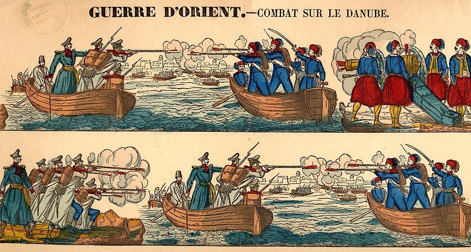 Guerre d'orient, combat sur le Danube