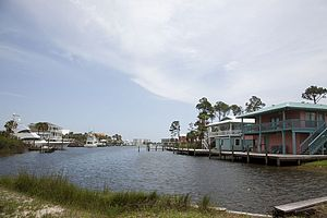 Gulf Shores, Alabama - Residential area on canal.
