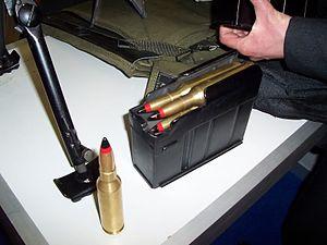 Istiglal anti-materiel rifle - 14.5×114mm ammunition in the Istiglal's magazine