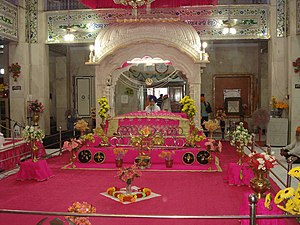 Gurdwara - Gurudwara Paonta Sahib, view inside a typical gurdwara.