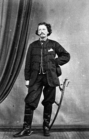 Gustavus von Tempsky - A formal portrait of Gustavus von Tempsky, probably taken by Hartley Webster about 1868