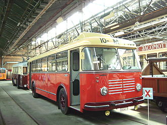 Gyrobus - Gyrobus G3, the only surviving gyrobus in the world (built in 1955) in the Flemish tramway and bus museum, Antwerp