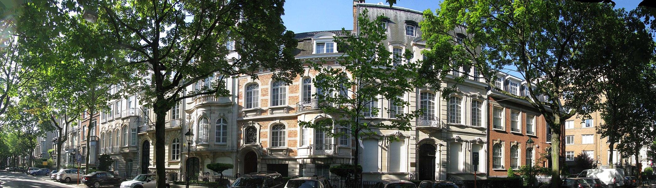 Hôtels de maître et Ambassades avenue Molière Ixelles, le 207 par Paul Picquet en 1910