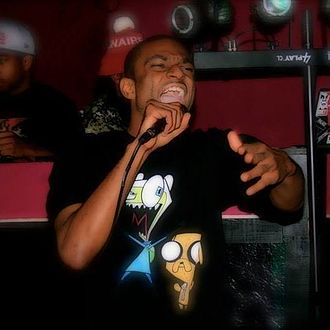 Hip hop - MC Hero performing rhythmic rhyming known as rapping in Huntsville, Alabama.