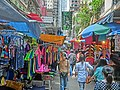 HK 灣仔街市 Wan Chai Market 太原街 Tai Yuen Street stall clothing n visitors Apr-2014.JPG
