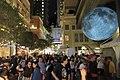 HK 灣仔 Wan Chai 利東街 Lee Tung The Avenue night 月球博物館 big Moon Museum by UK Luke Jerram October 2017 IX1 24.jpg
