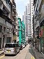 HK SW 上環 Sheung Wan 太平山街 Tai Ping Shan Street Upper Station Street Sunday morning October 2019 SS2 sidewalk carpark.jpg