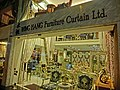HK Wan Chai Queen's Road East night 永恆 Wing Hang Furniture Curtain shop sign 6-Apr-2013.JPG
