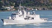 The Anzac class frigate HMNZS Te Mana