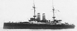 HMS Russell (1901) - Russell on trials in the summer of 1902
