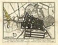 HUA-212092-Plattegrond van de stad Utrecht met directe omgeving met weergave van wegen en watergangen van het stratenplan en van enkele kerken en pleinen met ges.jpg