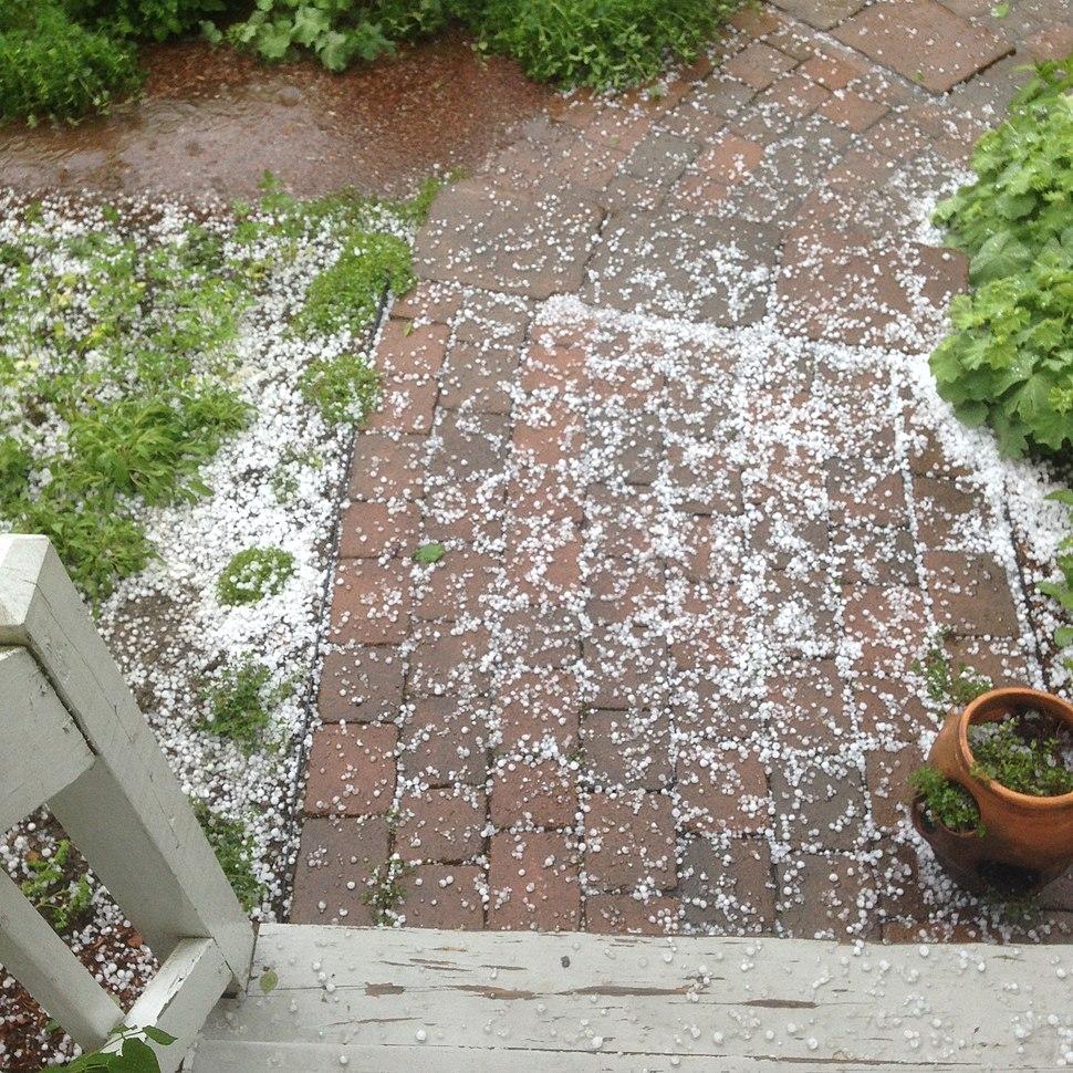 Hail in Charlton, Massachusetts