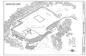 Kahanu Garden - Sketch of the heiau