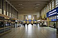 Half-empty interior of the Central Station in Helsinki, Finland during the COVID-19 pandemic, 2020 April.jpg