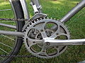 Half-step plus granny crankset on a Trek 620 Touring Bicycle.JPG