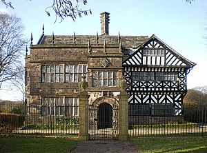 Listed buildings in Bolton - Image: Hall i' th' Wood geograph.org.uk 1223940