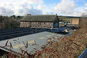 Axminster Carpets - Hamlyns's Mill, Buckfastleigh, which was bought by Harry Dutfield post-World War II to overcome supply difficulties for woollen yarn