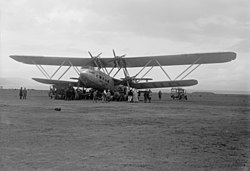 Handley Page H.P.42 Hanno der Imperial Airways in Palästina, 1935